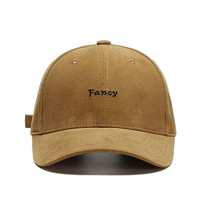 5df6dc6788bc6 Amazon.com  Ron Kite Fcany Embroidery Baseball Cap Fashion Hop Hip Corduroy  Dad Hat Casual Adjustable Outdoor Hat  Clothing