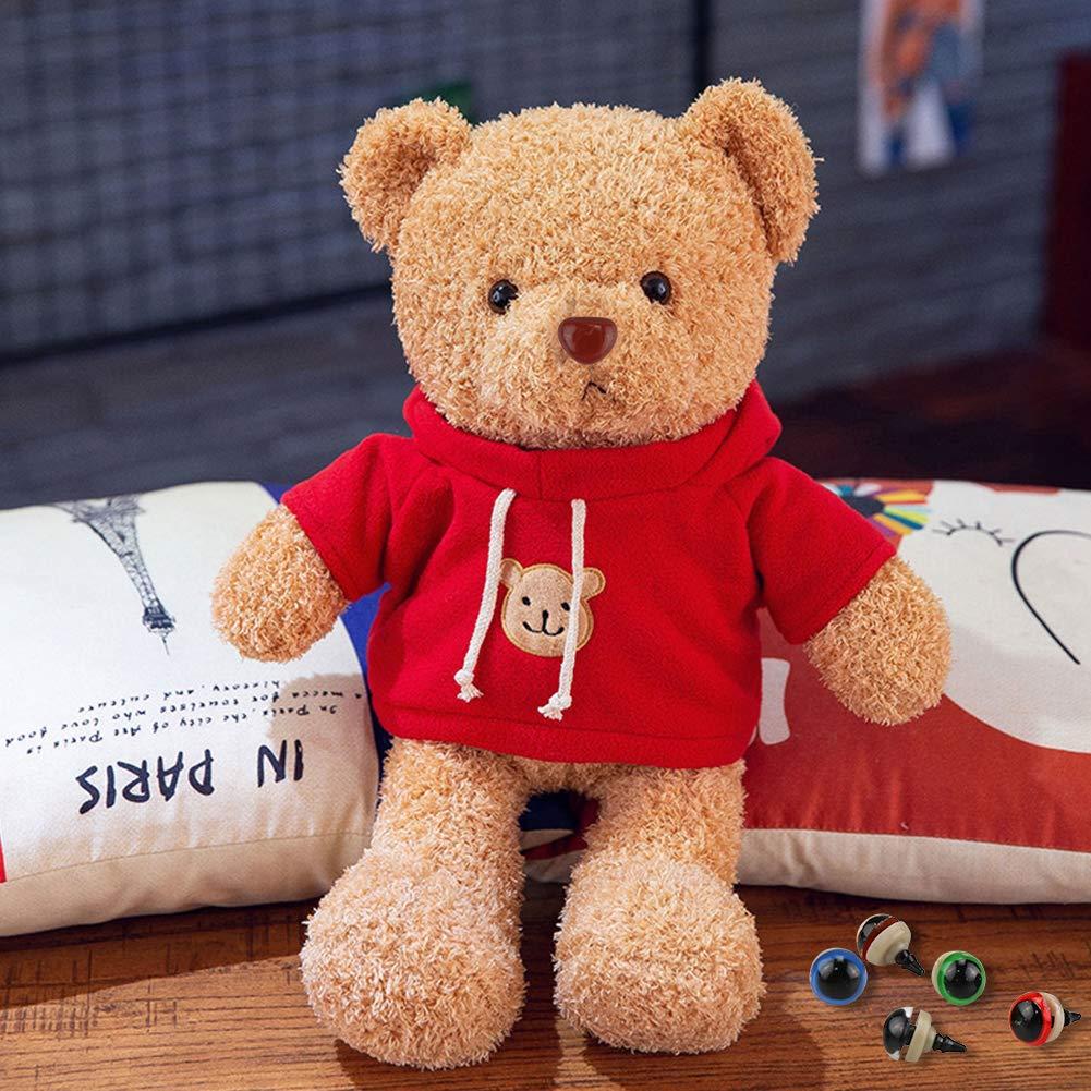 Bunt Teddyaugen Sicherheitsaugen Kunststoffaugen Puppe Augen Marionette Augen mit Unterlegscheiben f/ür Puppe Datyeco 608 St/ück Puppenaugen Teddyaugen und Teddynase Pl/üschtier