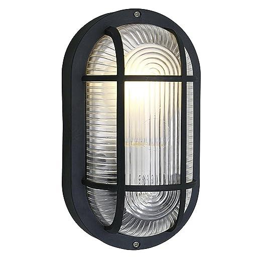 Eglo anola black oval bulkhead light outdoor wall light 88802 eglo anola black oval bulkhead light outdoor wall light 88802 aloadofball Images