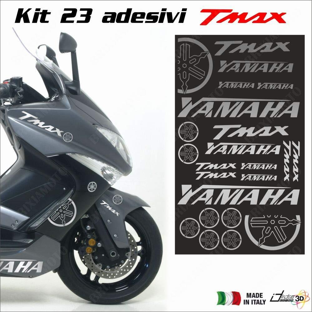 HOJA CON PEGATINAS PLATA FITS YAMAHA T-MAX 500 01-11 T-MAX 530 12-18