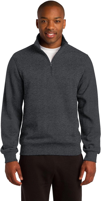 Sport-Tek Men's Tall 1/4 Zip Sweatshirt 4XLT Graphite Heather