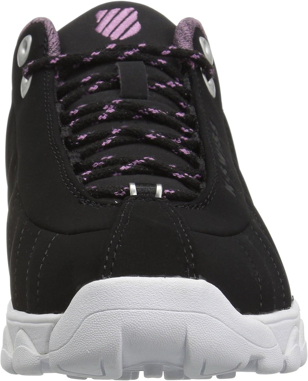 K-Swiss Women's St329 CMF Sneaker Black/Smoky Grape/White
