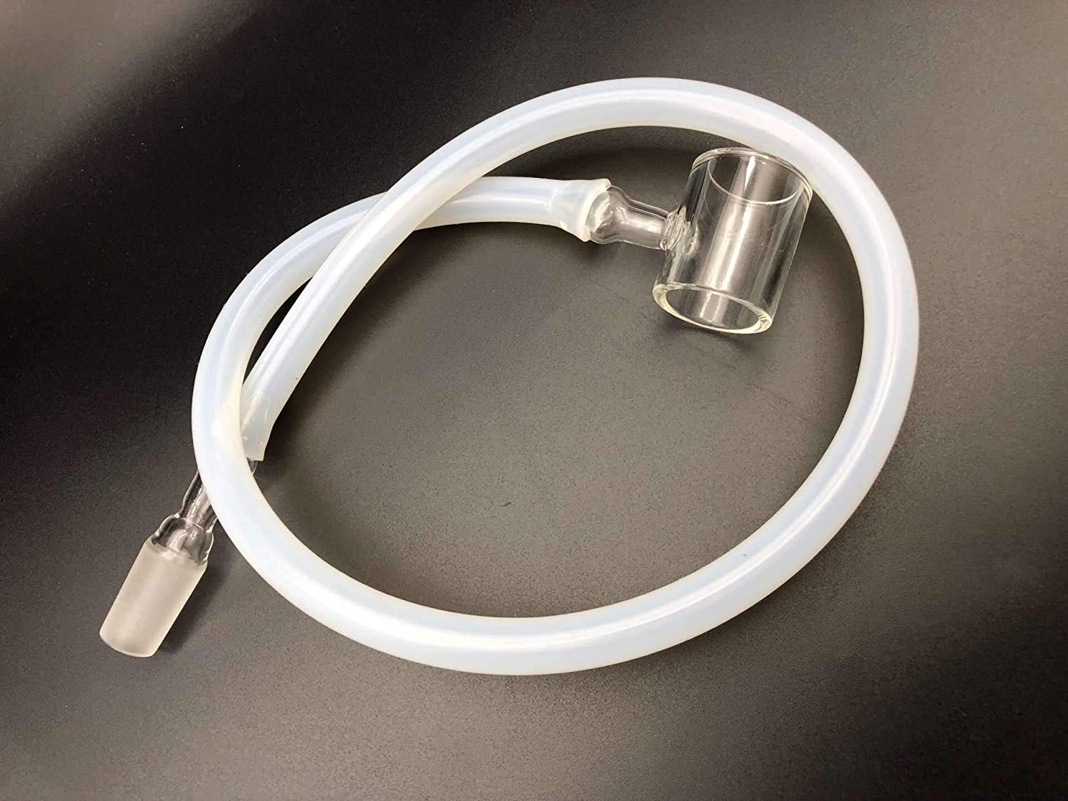 18mm Male Glass Adapter Connector with 500mm Length Silicone Hose for Dr Da00er B00st 14mm 14mm Dabad0 Yuanxiang