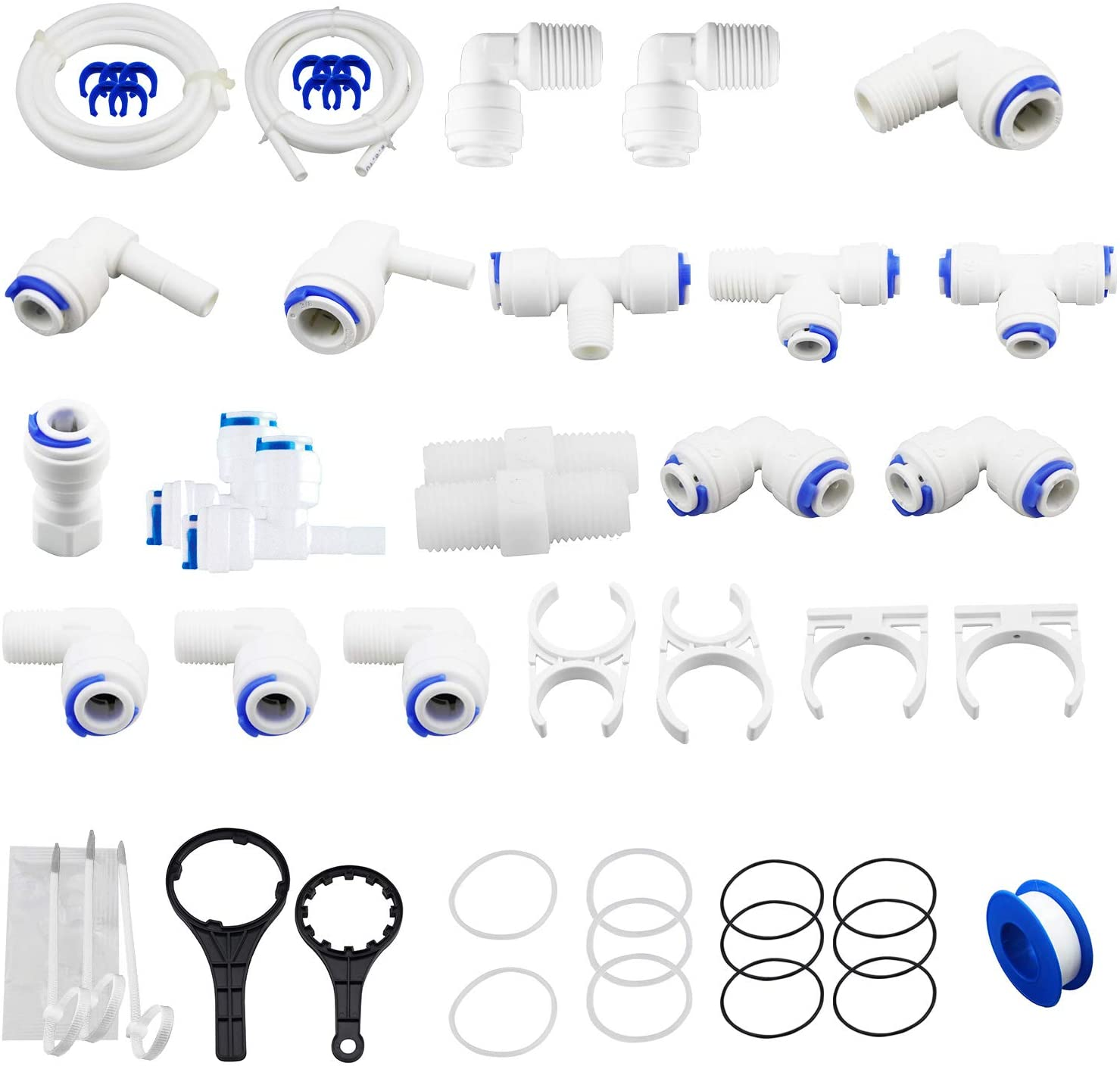 Pack of 61 Geekpure RO Water Reverse Osmosis System Parts Kit