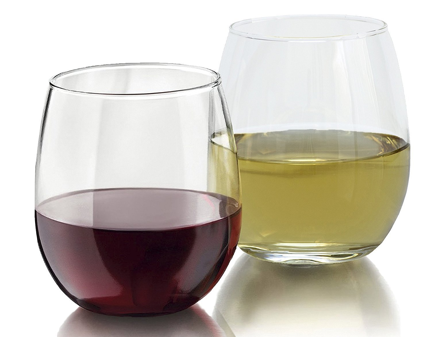 Royal 4-Piece Stemless Wine Glass Set, Elongated and Shatter-Resistant Glass, 15oz Equinox International RYL-4PCWN-TALL