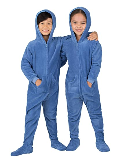 9cb9b8a259 Footed Pajamas - Under The Sea Toddler Hoodie Chenille Onesie - Extra Large