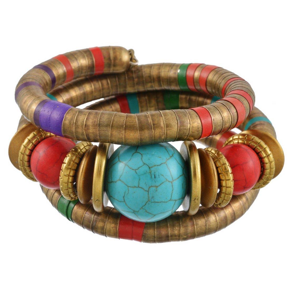 MJARTORIA Femme Bijoux Bracelet Multicouche Bohémien Ethnique Turquoise Artificielle Boho XIEHOU XHA0AE3A9AX