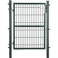 SONGMICS GGD175L - Puerta de jardín (Acero galvanizado