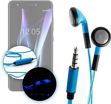 DURAGADGET Auriculares In-Ear con Luz LED Azul para Smartphone BQ ...