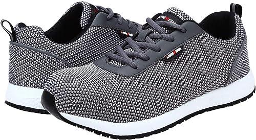 Zapatos de Seguridad Hombres, LM-027 Zapatillas de Trabajo con Punta de Acero Ultra