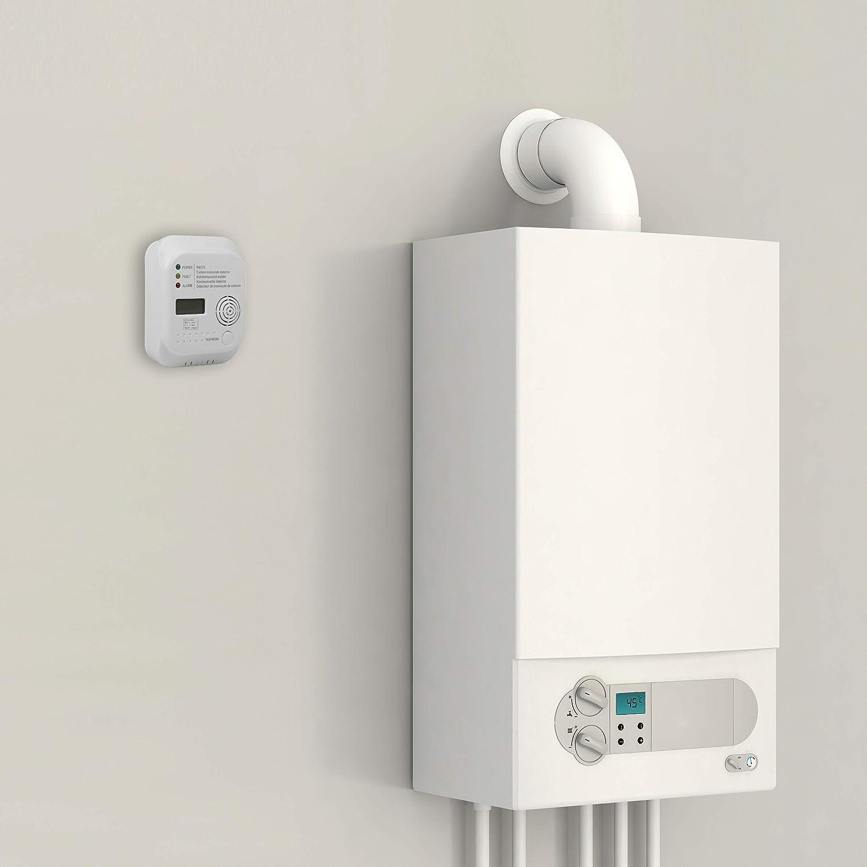 Smartwares RM370 Detector de monóxido de Carbono, 1.5 V, Blanco