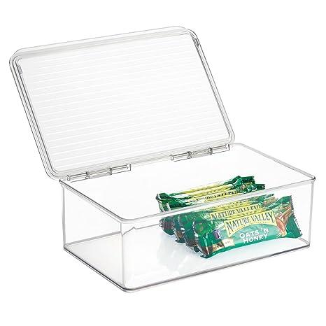 InterDesign Cabinet/Kitchen Binz Cajas de almacenaje, organizadores de cocina extragrandes de plástico,