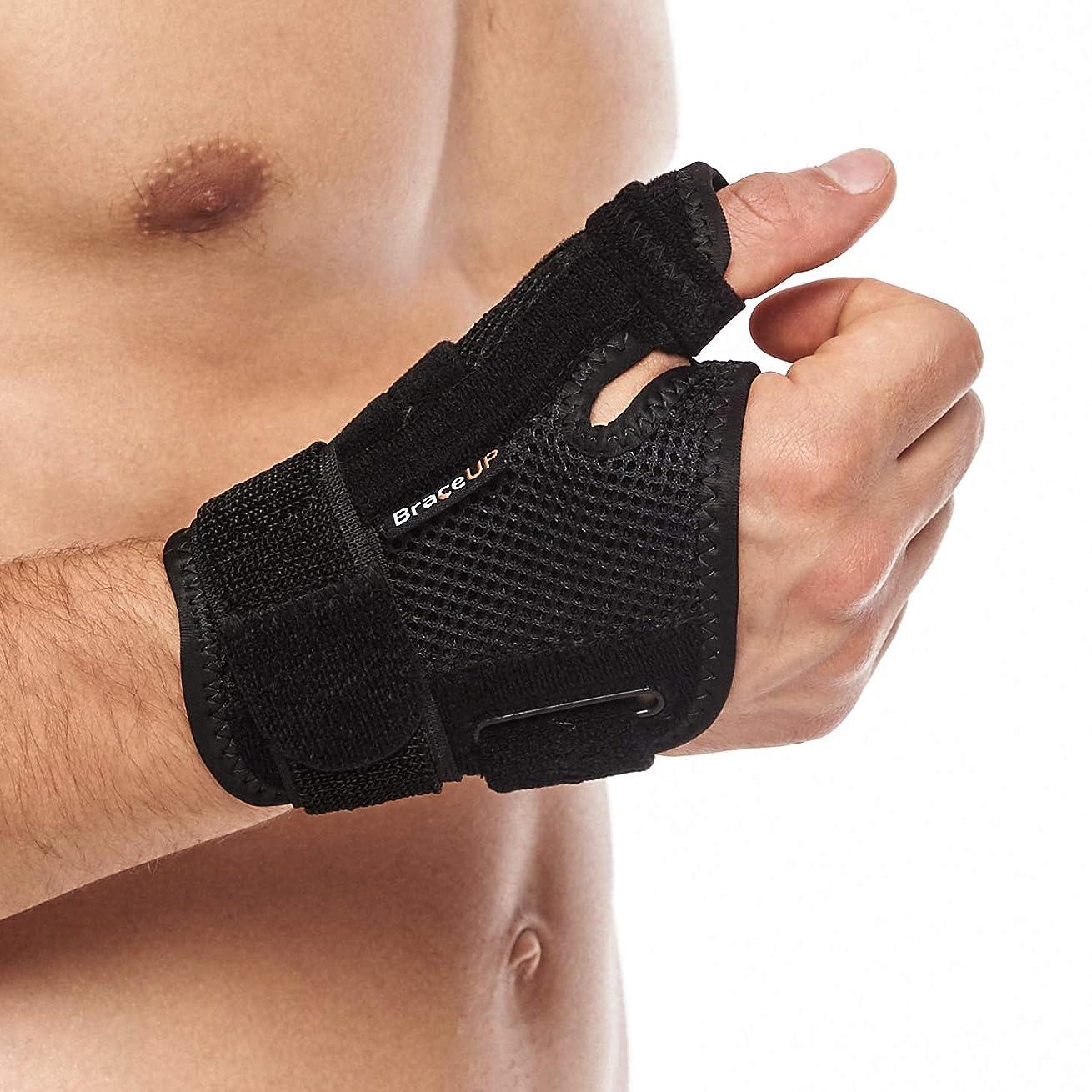 カジュアル孤児毎日親指サポーター Cudon 指用サポーター 通気性 ばね指 腱鞘炎 突き指 手首固定 関節症 捻挫 親指付け根の骨折 脱臼 など 右手 左手