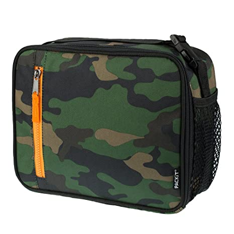 amazon com packit freezable classic lunch box camo kitchen dining