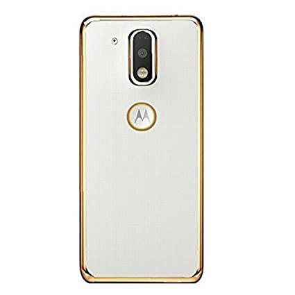 reputable site a2be1 60c30 Jphra Motorola Moto G Play 4Th Gen Back Cover, Electroplated Gold Golden  Edge Clear Soft Transparent Back Case Cover For Moto G4 Play Transparent  Back ...