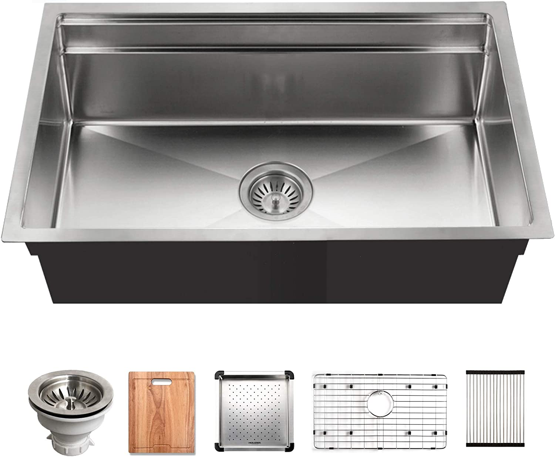 Houzer Nvs 5200 Novus Sliding Dual Platform Workstation Kitchen Sink Stainless Steel Amazon Com