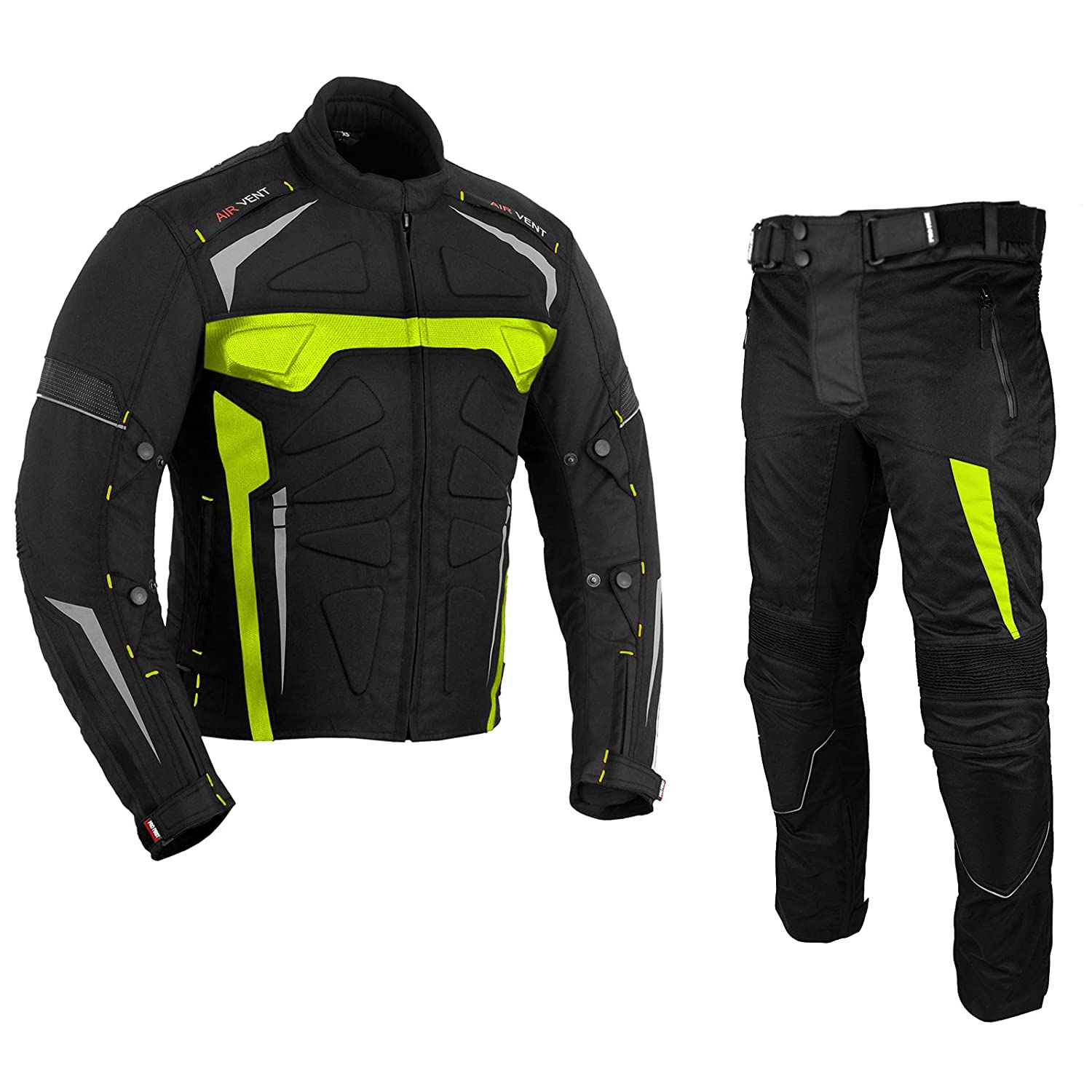 Waterproof Motorbike Suits Motorcycle Armor Suit Bike Rider Suit 2 piece Suit Motorbike Racing Suit All Weather Wearing Suit CE Armour for Mens Boys