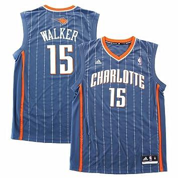 low priced 48567 a6462 adidas Kemba Walker Charlotte Bobcats NBA Men's Grey Official Replica Jersey
