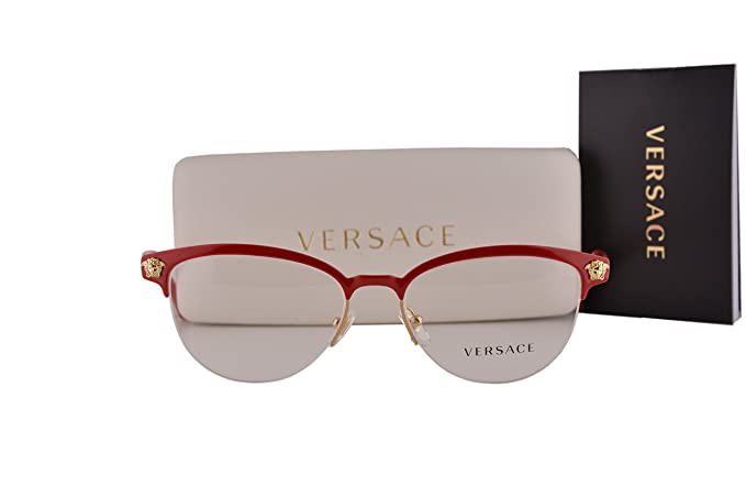 c4eef266b52ef Image Unavailable. Image not available for. Colour  Versace VE1235  Eyeglasses 53-17-140 Red Gold 1376 ...