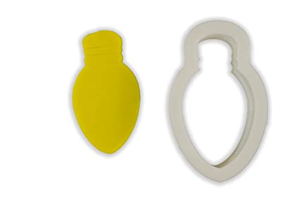 Christmas Light Bulb Cookie Cutter Large 4 Inches