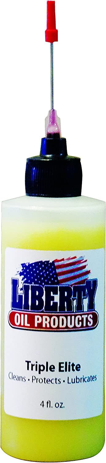Triple Elite Liberty Oil, The Best Oil for Lubricating All Moving Parts of Your Spinning Fishing Reels. 4oz Bottle with 1.5inch Needle