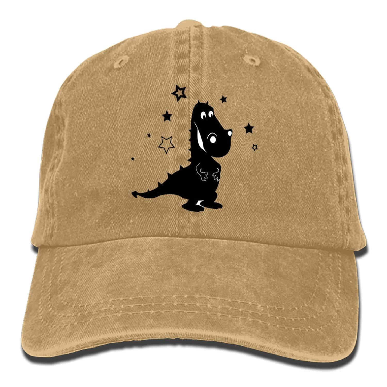 SHUANGRENDE Unisex Funny Dinosaur Washed Cotton Baseball Cap Vintage Adjustable Dad Hat