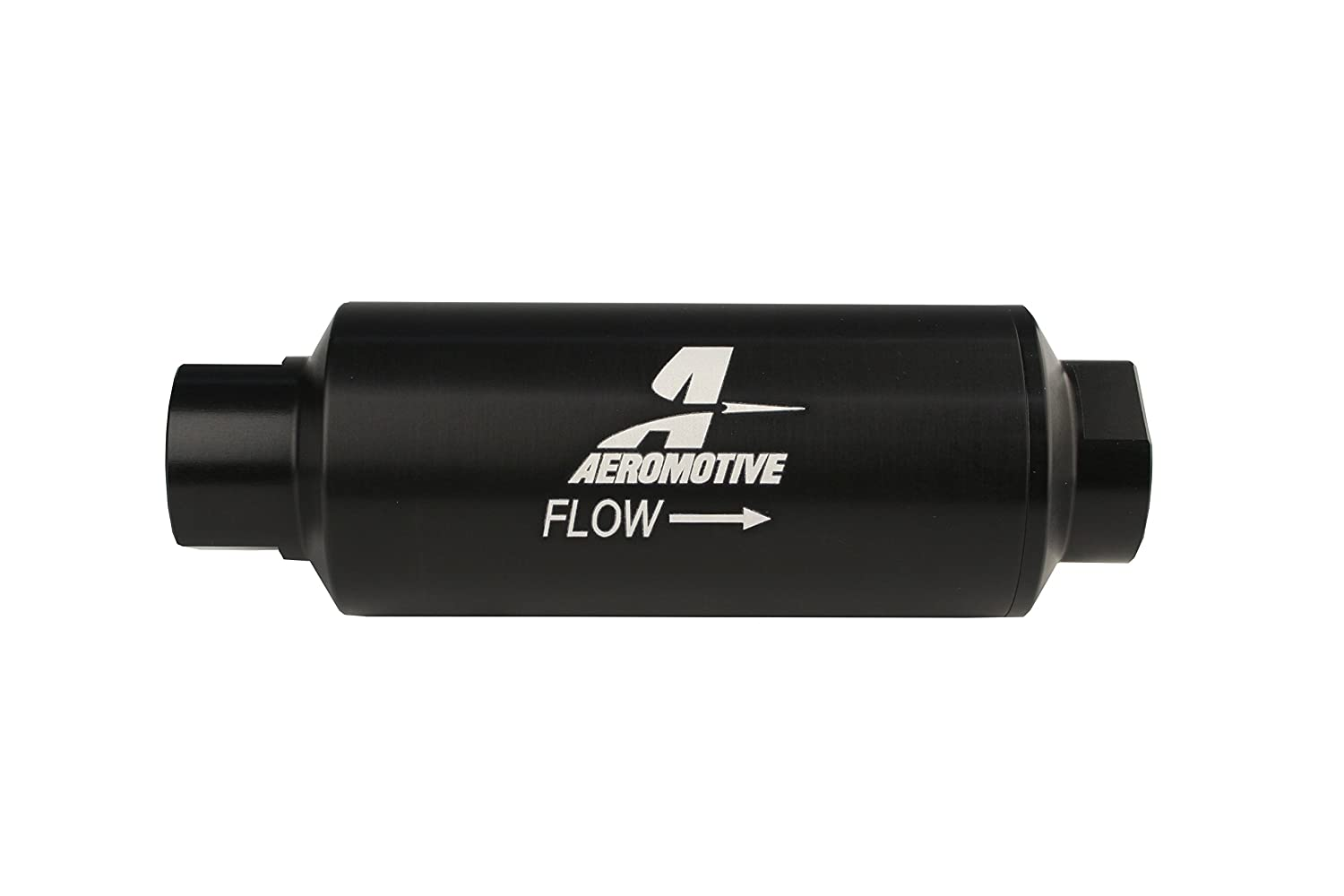 Aeromotive 12309 Filter, In-Line, 100-Micron Stainless Mesh Element, ORB-12 Port, Black Hard-Coat, Marine, 2-1/2' OD