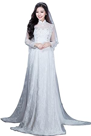 Udesignwecustomize Womens Vietnamese Traditional Wedding Dress Ao ...