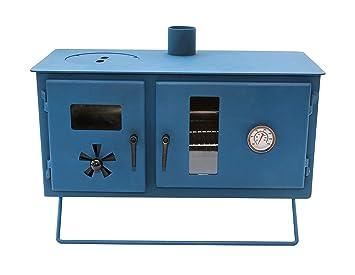Outbacker® - Estufa de Horno para Chimenea, Azul petróleo: Amazon.es: Deportes y aire libre