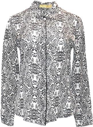 ANA PIRES MILANO Camisa Leonna, 100% Seda, Cuello clásico ...