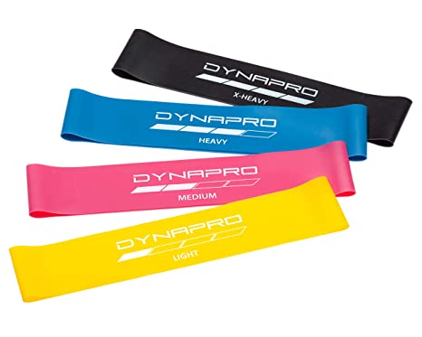 Crosstrainer Mini Precision Loop Exercise Bands with E-Quickstar... DYNAPRO Resistance Bands Ausdauertraining