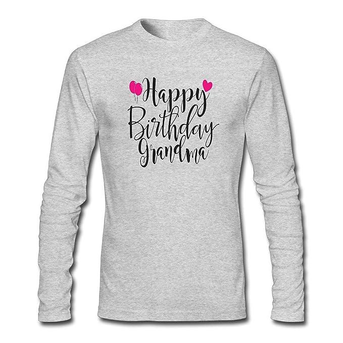 Amazon WENL Mens Happy Birthday Grandma Long Sleeve T Shirt Clothing