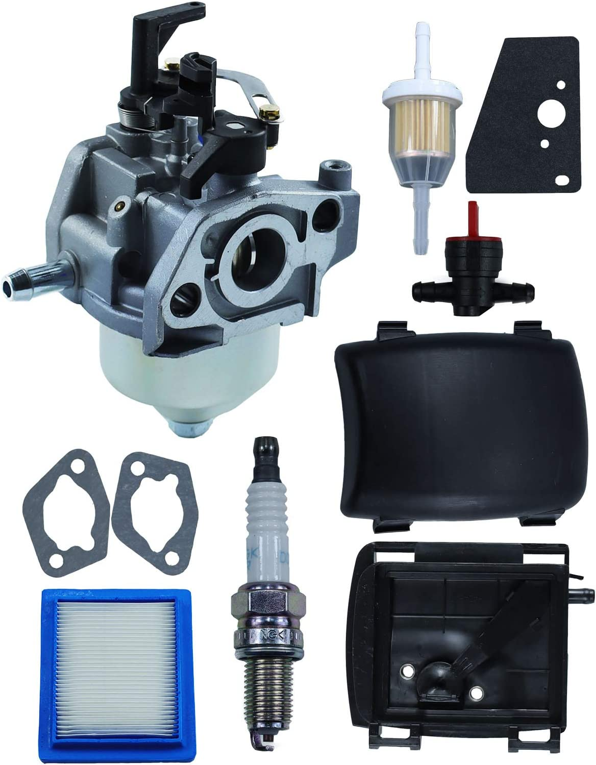 POSEAGLE 14 853 68-S Carburetor Tune-Up Kits with 14-743-03-S Air Cleaner Cover & Base for XT650 XT675 Toro Husqvarna MTD Engine Replaces 14 853 55-S for Engine