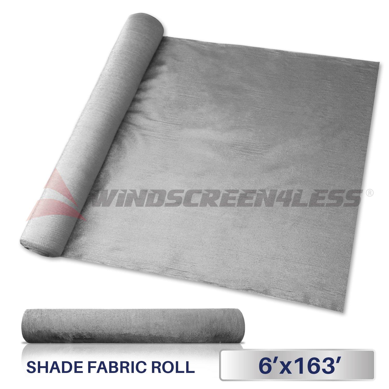 Windscreen4less Light Grey Sunblock Shade Cloth,95% UV Block Shade Fabric Roll 6ft x 163ft by Windscreen4less
