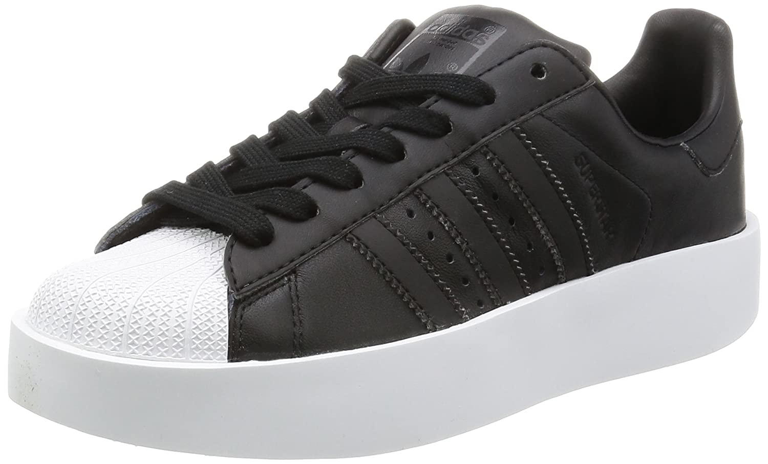 new style 7215b e46d7 adidas Womens Superstar Bold W Low-Top Sneakers