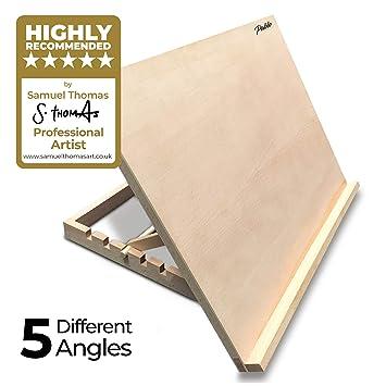 Atril/mesa/caballete para escritorio de madera ajustable tamaño A2 ...