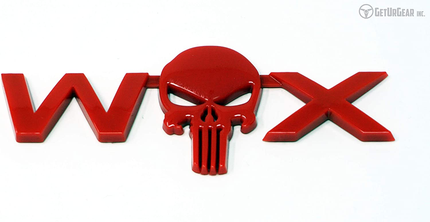 compatible with 2015+ WRX WX Skull Badge Matte Black