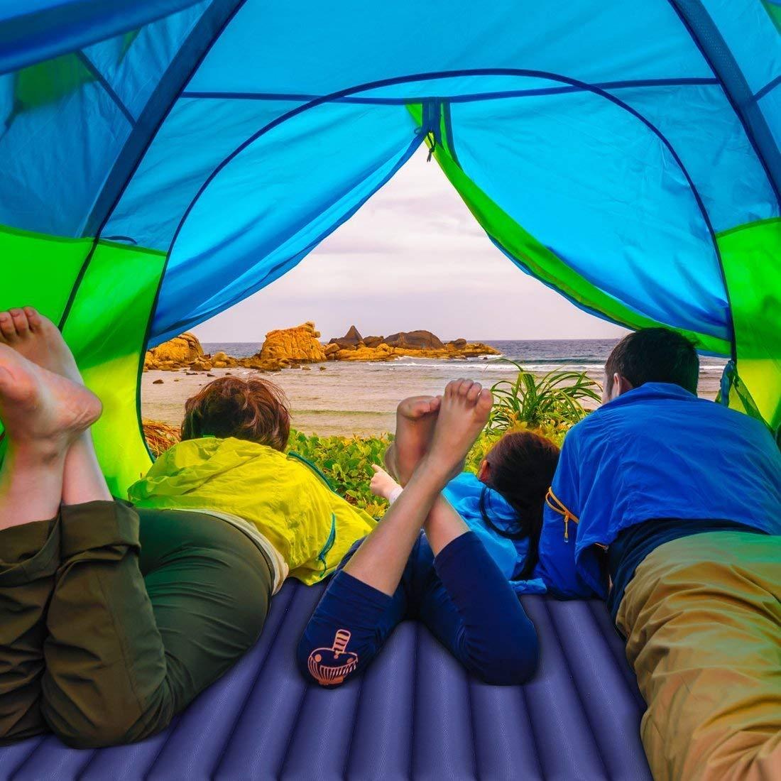 Outdoor Navyblau Strand Wandern Isomatte Ultraleicht f/ür 2 Personen von HIKENTURE Doppel Isomatte Aufblasbar Pumpsack f/ür Reise Camping Luftmatratze Schlafmatte Kleines Packma/ß mit Pumpsack