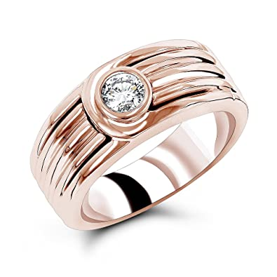 rose in mens white ring wedding a mixed with classic diamonds courted finish gold bands band