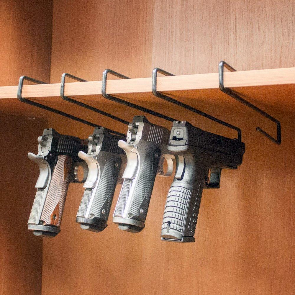 Gun Pistol Handgun Rack Safety Hanger Holder Hook Storage