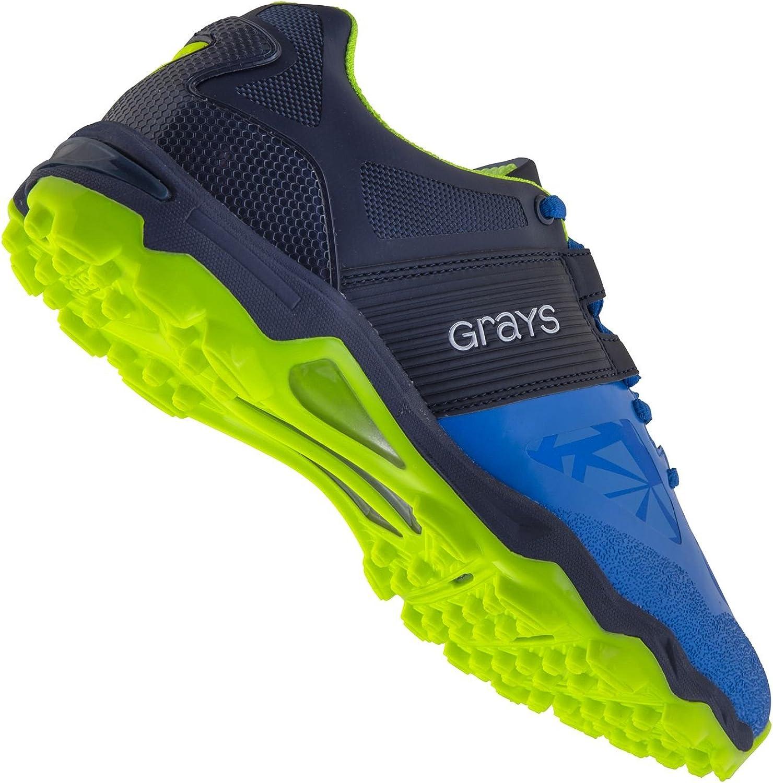 New Greys Mens Traction Hockey Chaussures Chaussures de Sport Noir//Orange