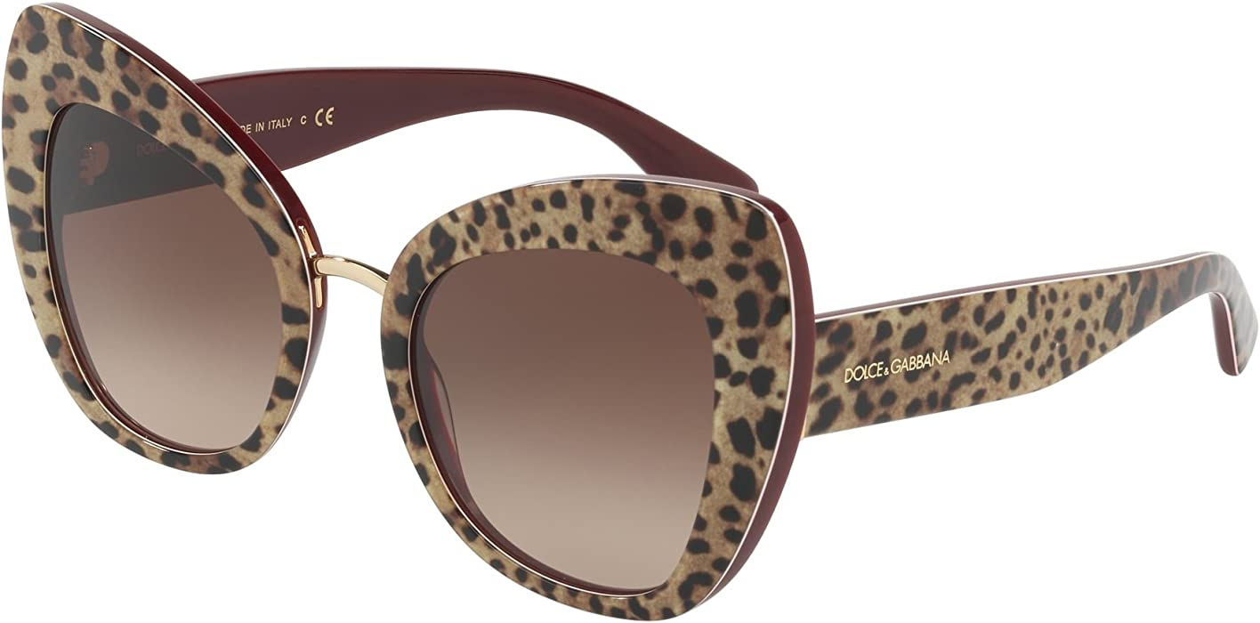 659fa8c9104b Dolce   Gabbana Extreme Butterfly Sunglasses in Leopard on Bordeaux DG4319  316113 51