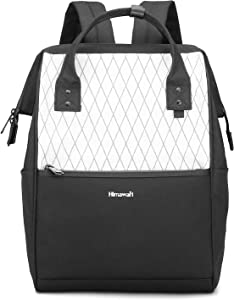 Himawari Laptop Backpack Travel Backpack With USB Charging Port Large Diaper Bag Doctor Bag School Backpack for Women&Men (0711-White)