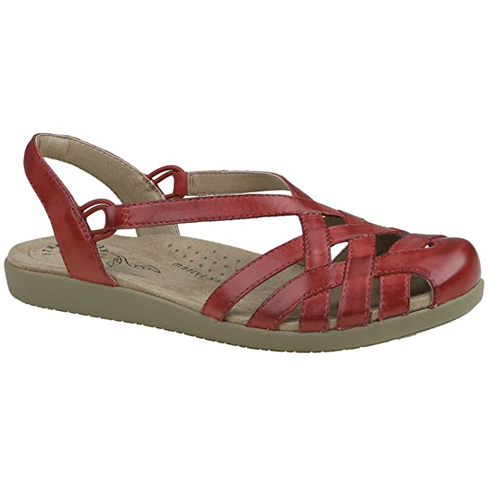 Earth Origins Women's, Nellie Sandal RED 8 M best supportive sandals for women