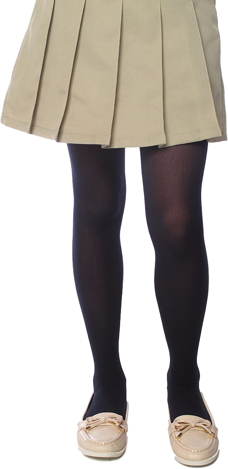Kids Girls Heavyweight Tights Stockings Cotton Footed 4-6 7-10 12-14 Pantyhose