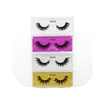 f55c8c1868b Amazon.com : 50 Pairs Mink Eyelashes 3D Makeup False Eyelashes Luxury  Handmade Dramatic Mink Lashes Cruelty Free Eyelashes, 50Pcs Mix Rose Red,  Lehuamao : ...