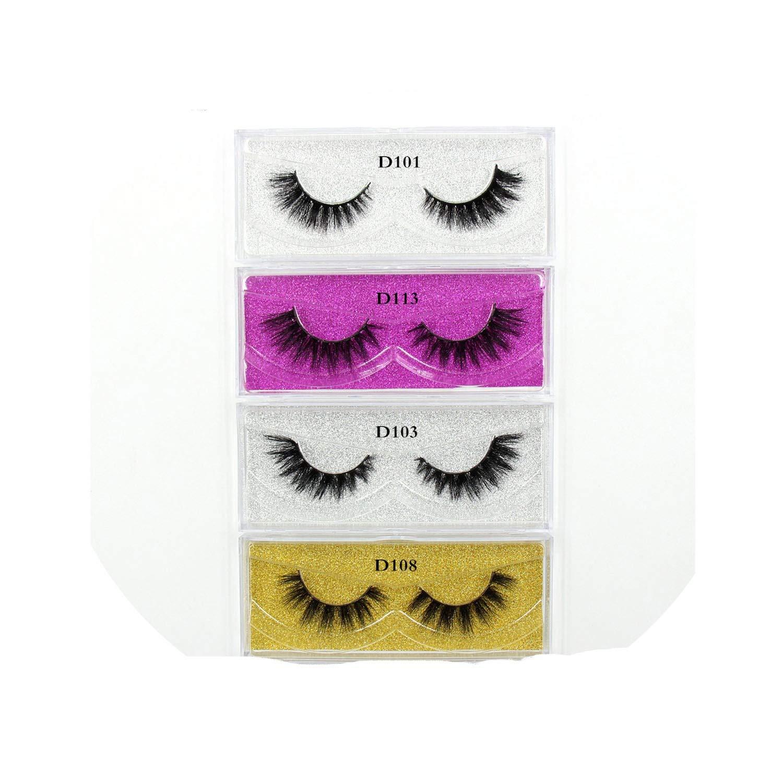 50 Pairs Mink Eyelashes 3D Makeup False Eyelashes Luxury Handmade Dramatic Mink Lashes Cruelty Free Eyelashes,50Pcs Mix Silver,Lehuamao
