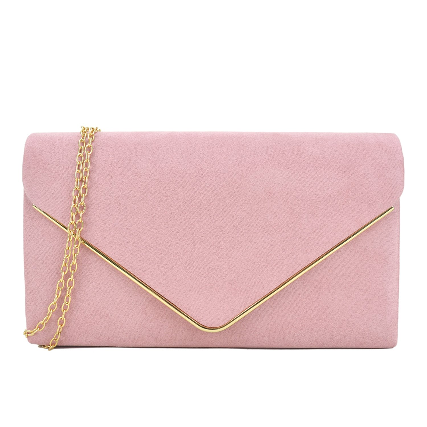 Dasein Women's Evening Clutch Bags Formal Party Clutches Wedding Purses Cocktail Prom Clutches KC-EHD-ZR16222-BK