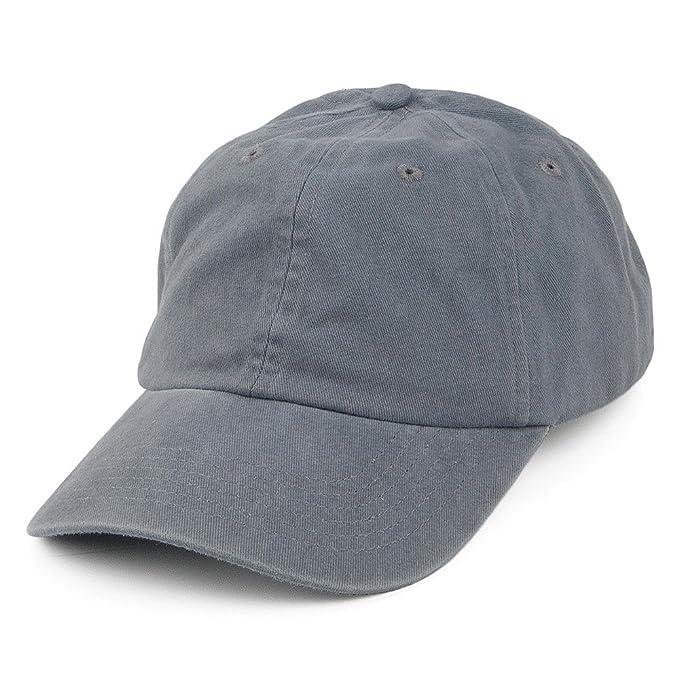 wholesale dealer 393b4 4ec32 Village Hats Washed Cotton Baseball Cap - Grey Adjustable  Amazon.co.uk   Clothing