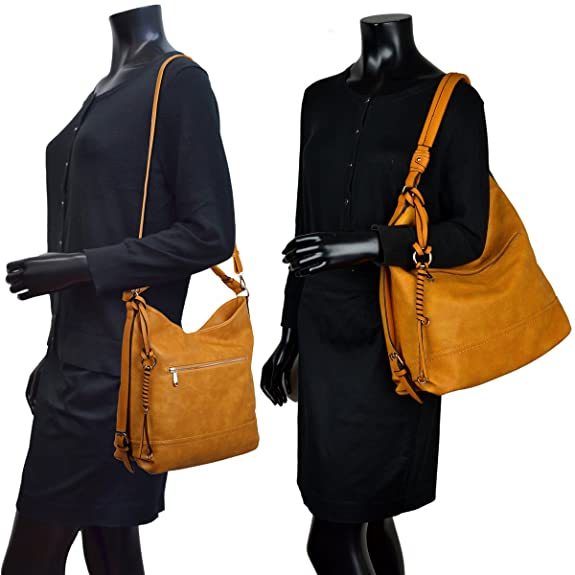 a1e58d691b97 Amazon.com  DASEIN Women Handbags Top-Handle Fashion Hobo Tote Bags PU  Leather Shoulder Satchel Bags  Shoes